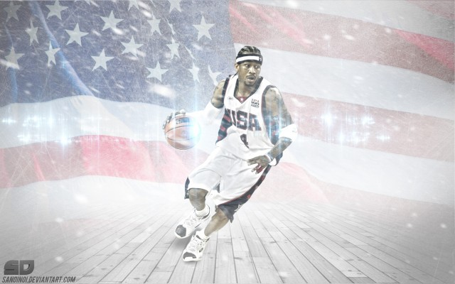 Allen Iverson USA Team Wallpaper 1728x1080