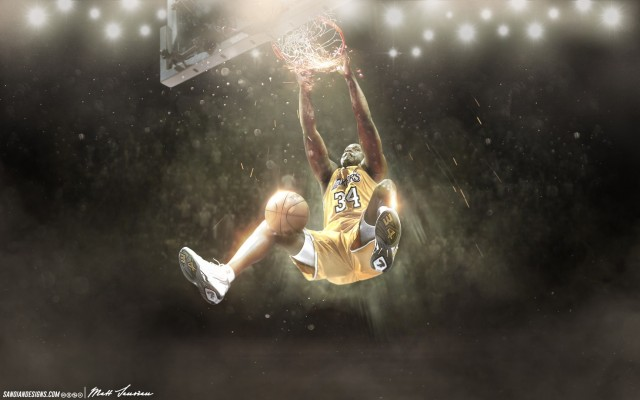 Shaquille O'Neal Lakers Wallpaper 1728x1080