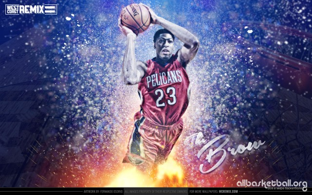 Antony Davis The Brow Pelicans 2015 Wallpaper 2560x1600