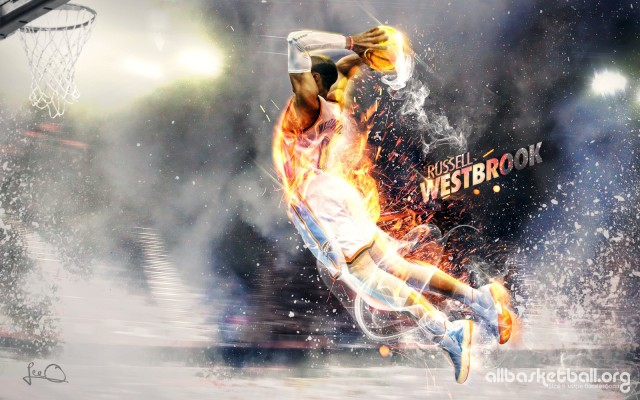 Russel Westbrook Thunder 2015 Wallpaper 1600x1000