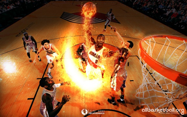 Damian Lillard as the Human Torch 2015 Wallpaper 2048x1280