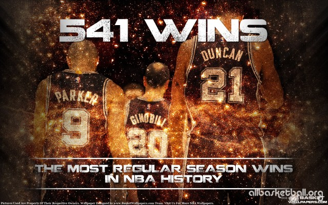 San Antonio Spurs Trio 541 Wins 2015 Wallpaper 1920x1200