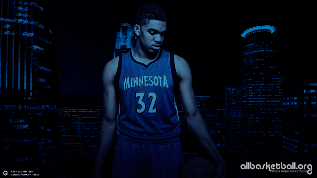 Karl-Anthony Towns Wolves Minimal 2015 Wallpaper 2560x1440