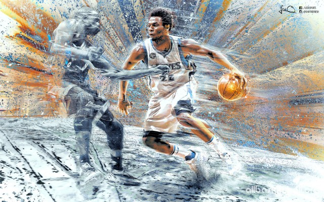 Andrew Wiggins Wolves 2015 Wallpaper 1600x1000