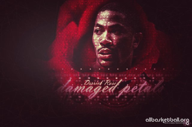 Derrick Rose Damaged Petals 2015 Wallpaper 5400x3600