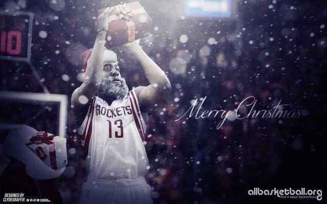 James Harden 'Harden Claus' 2015 Wallpaper 1280x800