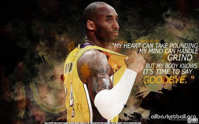 Kobe Bryant Retirement Quote 1920×1200 Wallpaper