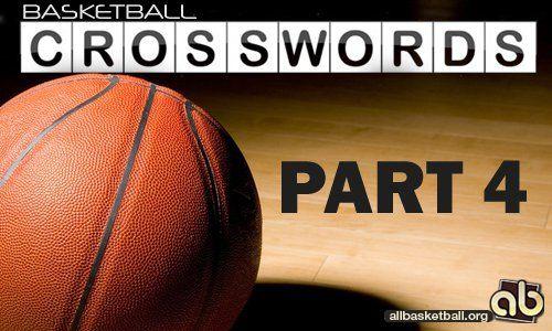 Баскетбольный кроссворд от allbasketball.org. Часть 4