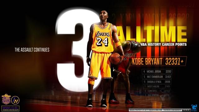 Kobe Bryant 3rd All-Time Wallpaper 1920x1080