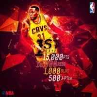 Шон Мэрион стал первым игроком в НБА который собрал 15 000 очков,10 000 подборов,1000 блокшотов,500 трехочковых