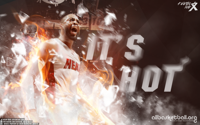 Dwyane Wade It`s Hot 2015 Wallpaper 1024x640