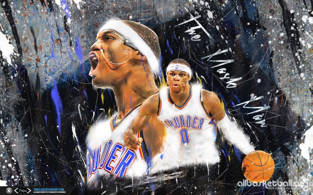 Russel Westbrook The Mask Man 2015 Wallpaper 1680x1050