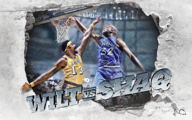 Wilt vs Shaq 2015 Wallpaper 1600x1000