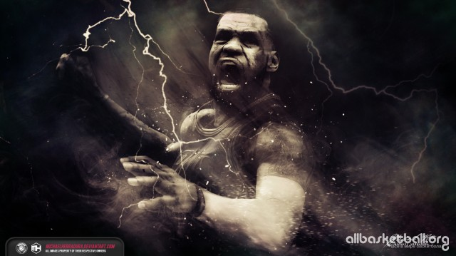 Lebron James The King 2015 Wallpaper 1366x768