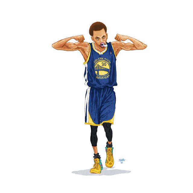 Звёзды НБА в рисунках