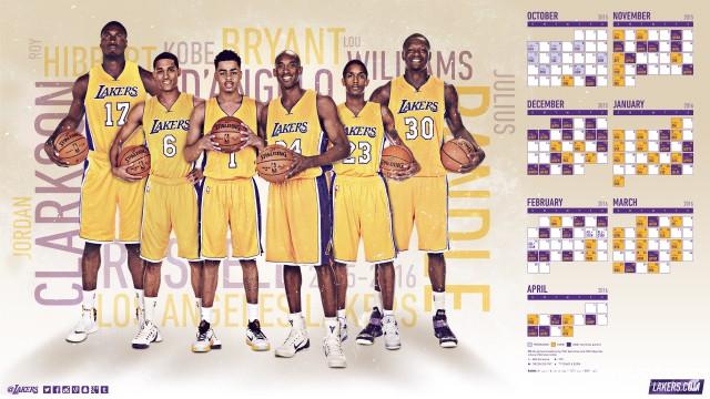 Lakers 2015-2016 Season Wallpaper