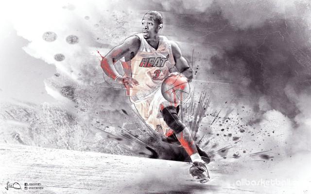 Dwyane Wade Heat 2015 Wallpaper 1600x1000