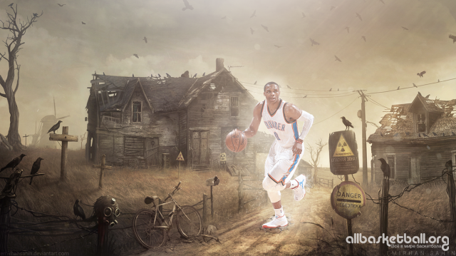 Russel Westbrook Stalker 2015 Wallpaper 1366x768