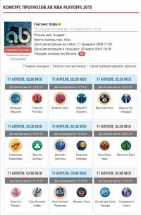 "Конкурс прогнозов ""AB NBA PRESEASON 2015"" при поддержке kickz4u.ru"