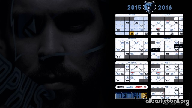 Grizzlies 2015-2016 Season Wallpaper 1920x1080