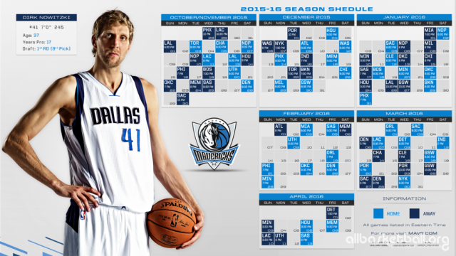 Mavericks 2015-2016 Season Wallpaper 1024x576