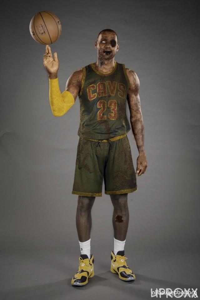 Звезды НБА в образе зомби