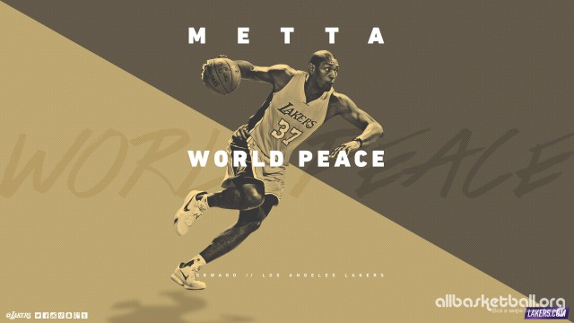 Metta World Peace Lakers 2015 Wallpaper 2560x1440