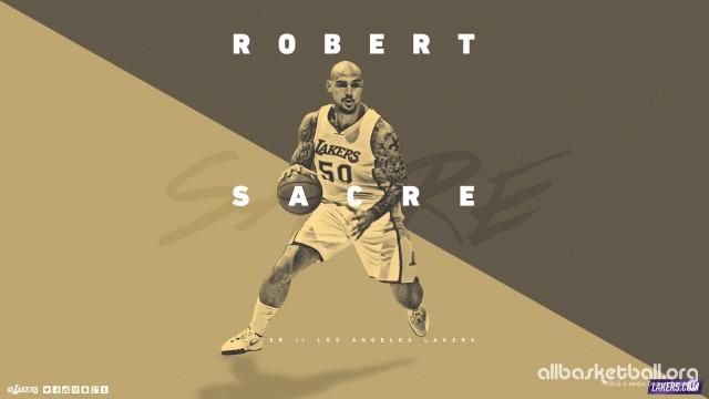 Robert Sacre Lakers 2015 Wallpaper 2560x1440