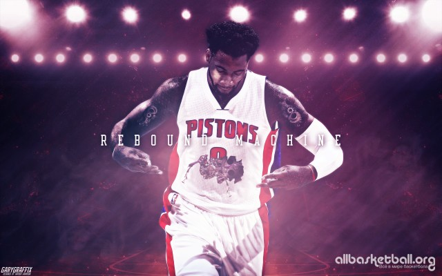 Andre Drummond Rebound Machine 2015 Wallpaper 2880x1800