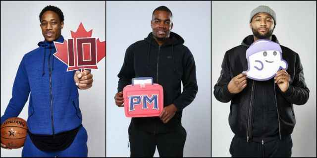 Смайлики участников Матча Всех Звёзд, а также ведущих NBA on TNT