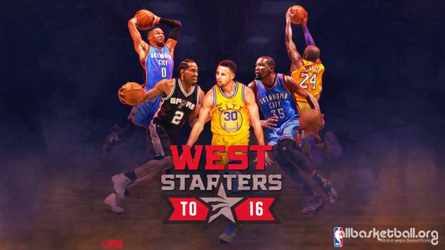 NBA 2016 West All-Star Starters Mix