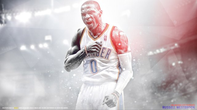 Russell Westbrook Thunder 2016 Wallpaper 1920x1080