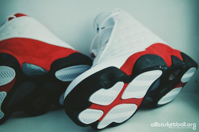 AllBasketball Sneaker Reviews: Обзор Air Jordan 13 Retro OG White & Team Red