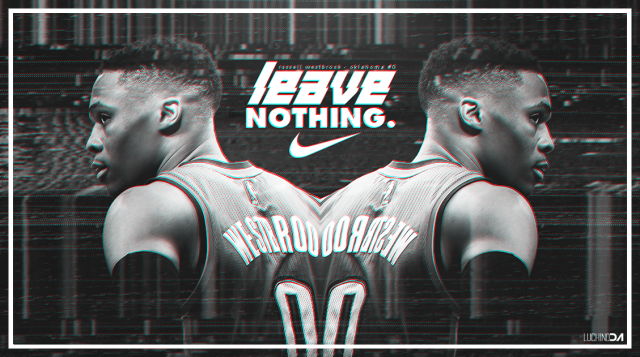 Russell Westbrook Leave Nothing 2017 Wallpaper 1129x631