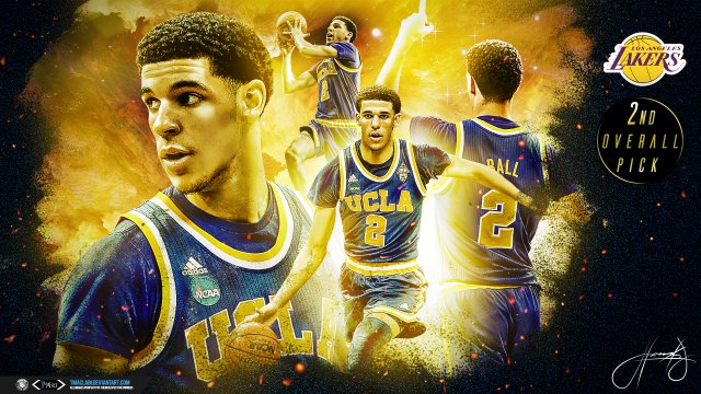 Lonzo Ball 2nd Overall Pick Lakers 2017 Wallpaper 1920x1080