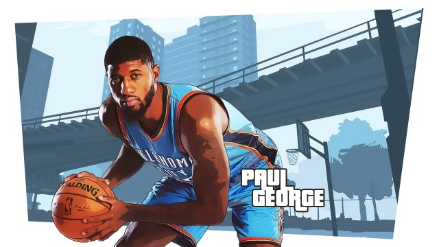Paul George Thunder 2017 Wallpaper 1920x1080