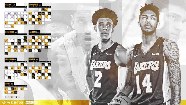 Lakers 2017-18 Season Wallpaper 2560x1440