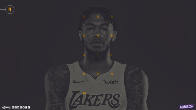 Brandon Ingram Lakers 2017/18 Wallpaper 2560x1440