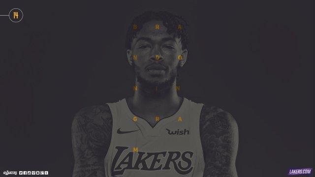 Brandon Ingram Lakers 2017/18 Wallpaper 2560x1440
