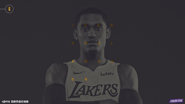 Jordan Clarkson Lakers 2017/18 Wallpaper 2560x1440