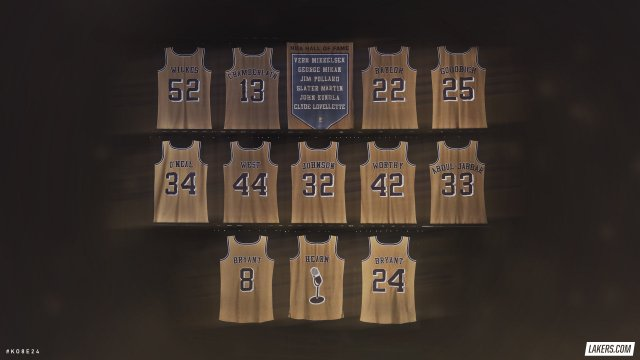 Kobe Bryant Jersey Retirement 2018 Wallpaper 2560x1440