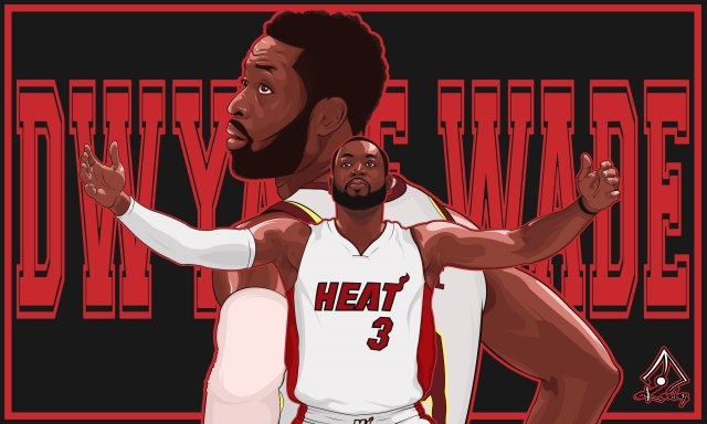 Dwyane Wade Heat 2018 Wallpaper 5000x3000