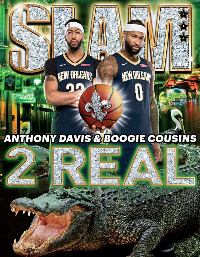 Anthony Davis & DeMarcus Cousins SLAM 214 January 2018