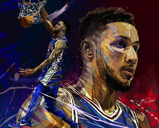 Ben Simmons 76ers 2018 Wallpaper 1200x962