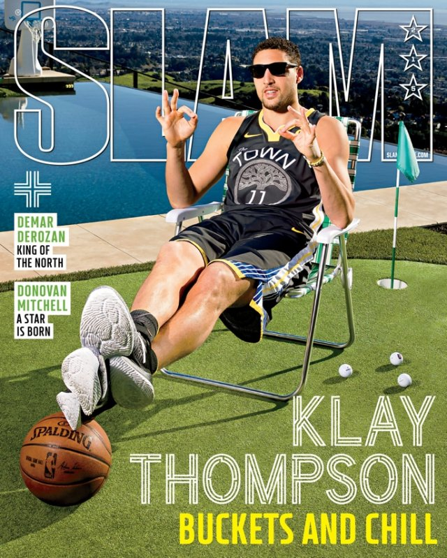 Klay Thompson SLAM 215 March 2018