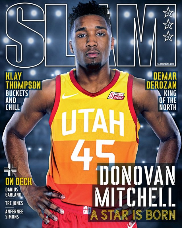 Donovan Mitchell SLAM 215 March 2018