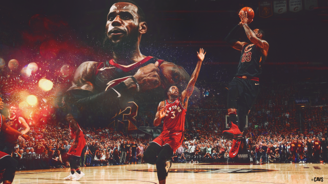 Lebron James The Shot to Beat Toronto 2018 Wallpaper 1920x1080