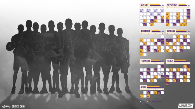 Lakers 2018-19 Season Schedule Wallpaper 2560x1440