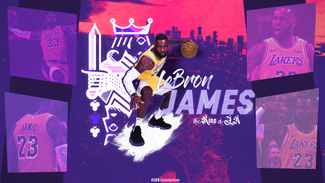 Lebron James King Of LA 2019 Wallpaper 1920x1080
