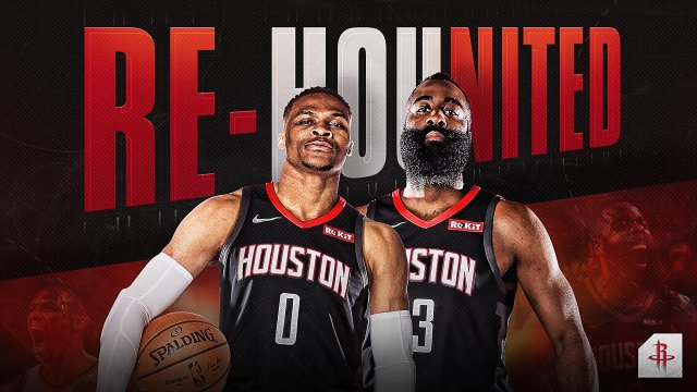Russell Westbrook x James Harden Houston 2020 Wallpaper 1920x1080
